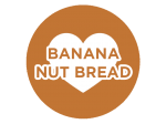 Banana Nut Bread | Fresh baked classic with cooked bananas and nuts.